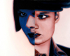 Contemporary Portrait Painting of Louise Brooks, OIl on aluminum panel, by Rebecca Luncan
