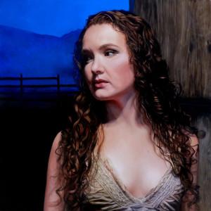 Portrait oil painting Rebecca Luncan