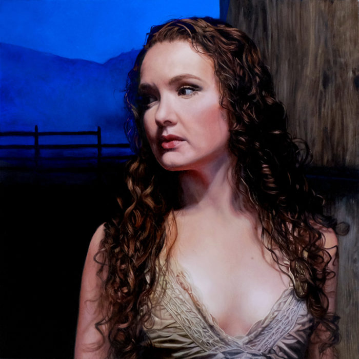 figurative Portrait oil painting Rebecca Luncan