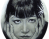 Miniature Oil Painting of Anna May Wong By Rebecca Luncan