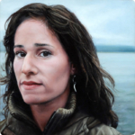 Portrait Painting woman puget sound by Rebecca Luncan