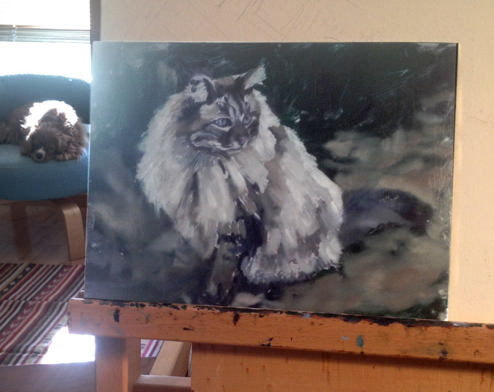 Cat-painting_in-progress_rebecca-luncan