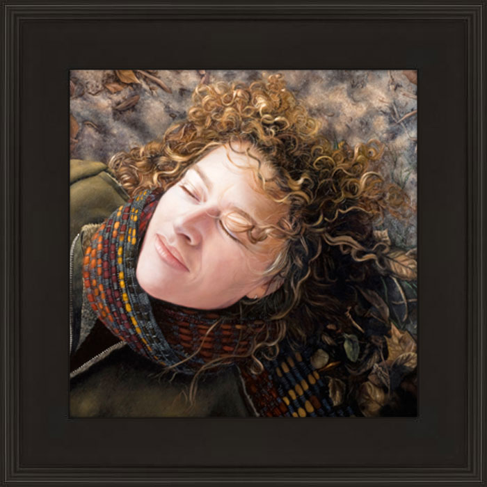 Contemporary realism Portrait Painting of woman by Seattle artist Rebecca Luncan