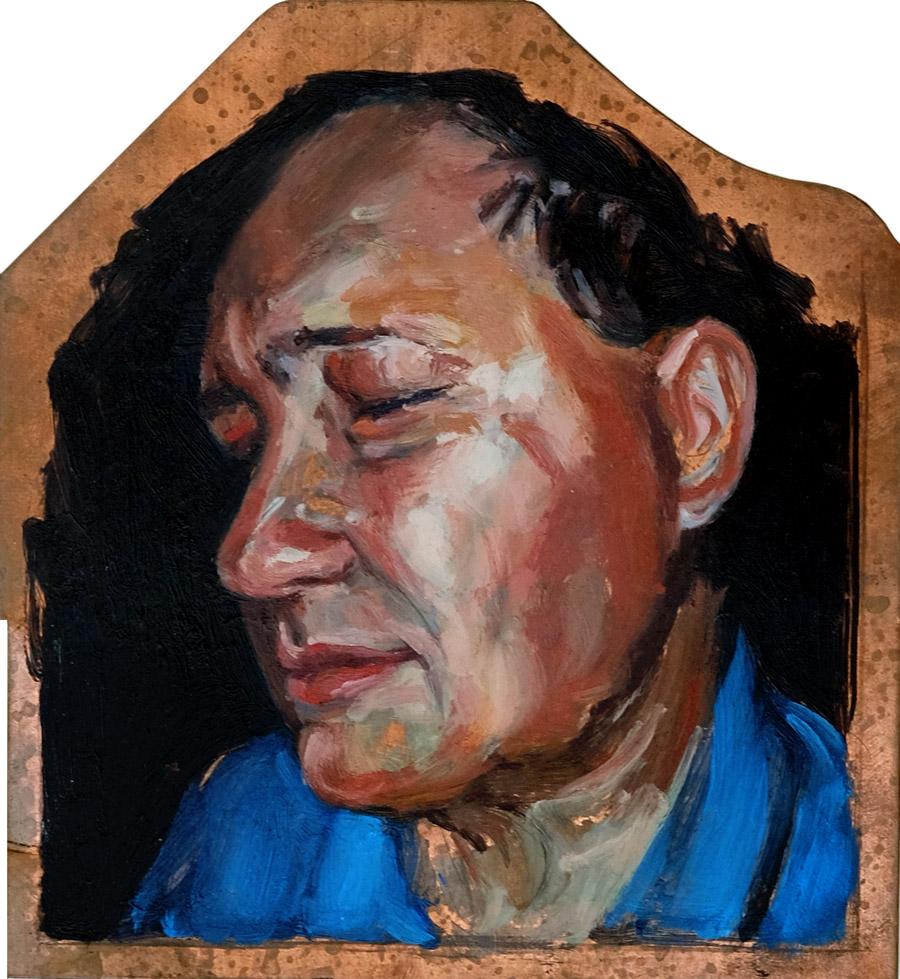 Portrait of father Rebecca Luncan