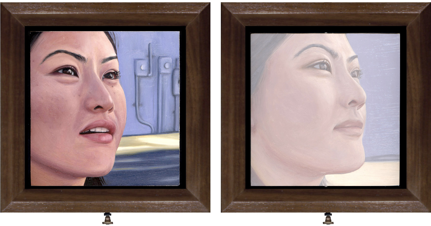Double-sided oil painting by Rebecca Luncan