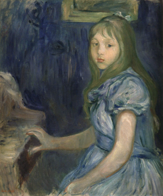Berthe Morisot, Lucie Léon at the Piano, oil on canvas, 1892 Collection of the Seattle Art Museum