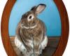 Rabbit Painting Miniature Rebecca Luncan