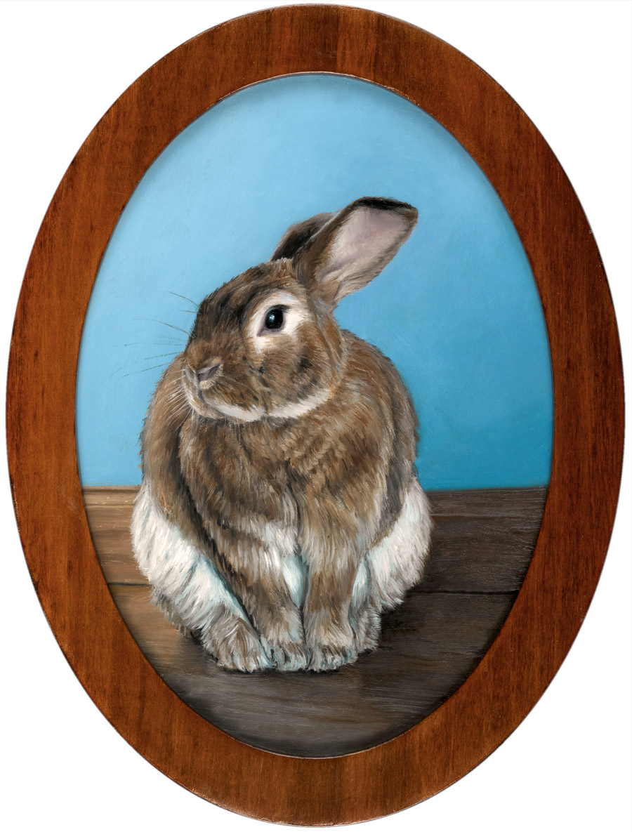 Rabbit Painting Miniature Rebecca Luncan