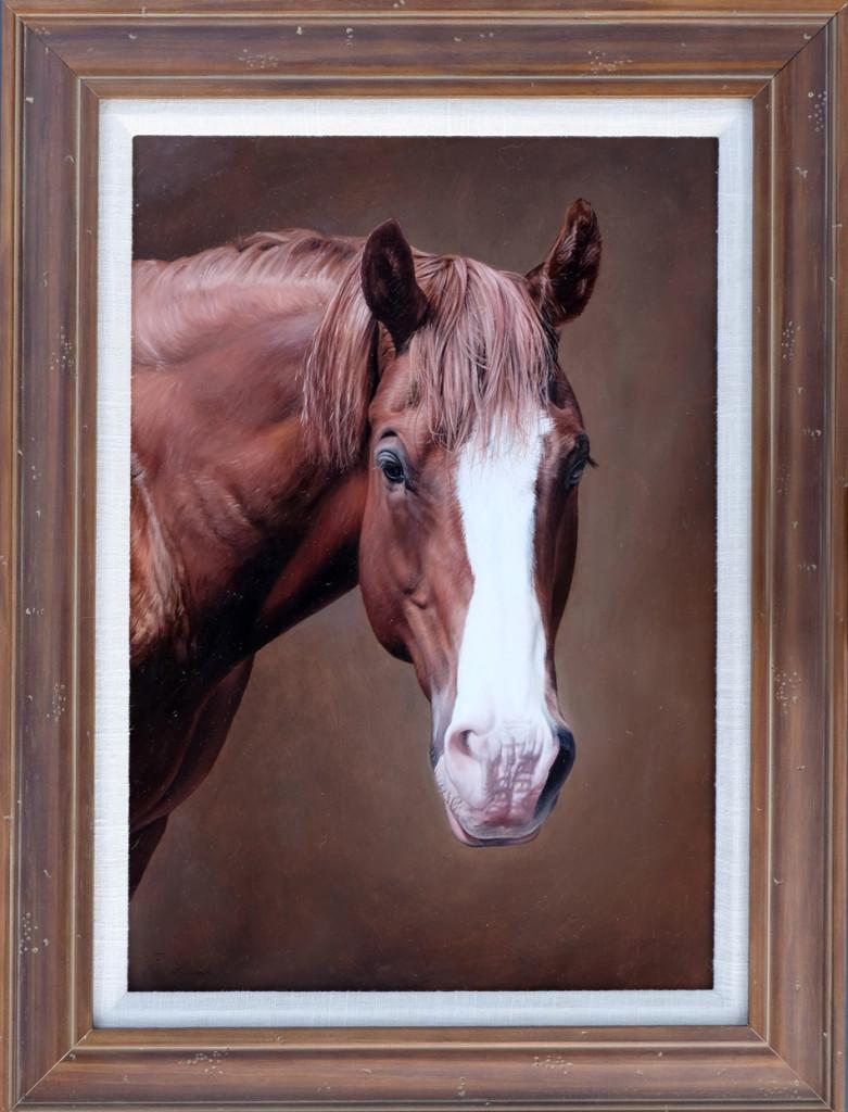 Horse portrait Painting commission.