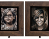 Double-Sided oil painting, adult and child Rebecca Luncan