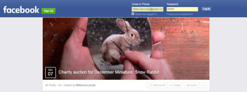 Facebook original painting auction