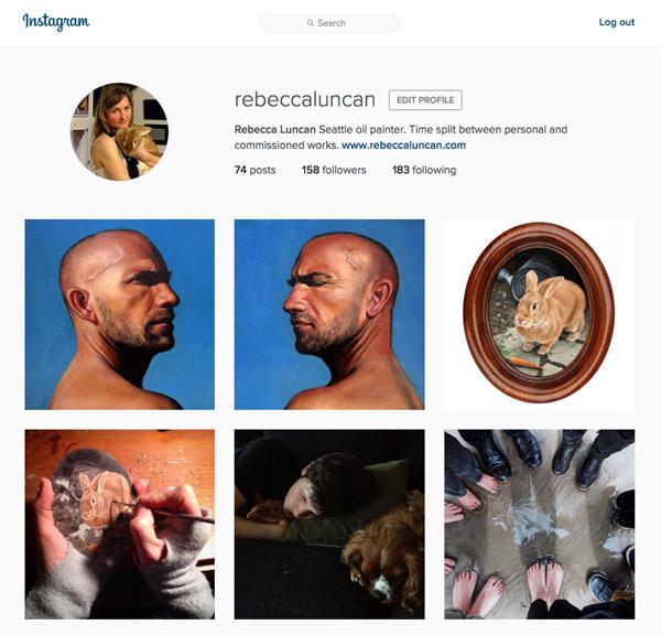 Rebecca Luncan Instagram account