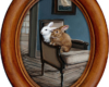 Miniature painting of house rabbits, Setting Sail, by Rebecca Luncan