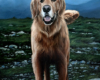 Pet Portrait Painting of Wilson the Golden Retriever by Rebecca Luncan