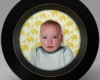 contemporary Miniature baby painting, Portrait of my son by Rebecca Luncan