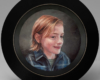 miniature children's Portrait painting of Sam by Rebecca Luncan