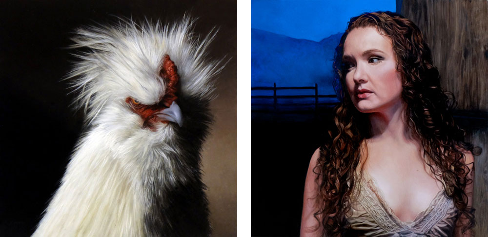 human and animal figurative portraits by Rebecca Luncan