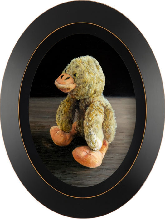 stuffed animal toy still life painting by Rebecca Luncan