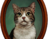 pet portrait cat oil painting miniature by Rebecca Luncan
