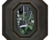 """white rabbit miniature painting """"A Silent Gathering (Aspen and Hare)"""", 6"""" x 4"""", oil on aluminum"""