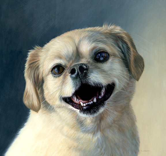 pet portrait painting by Rebecca Luncan