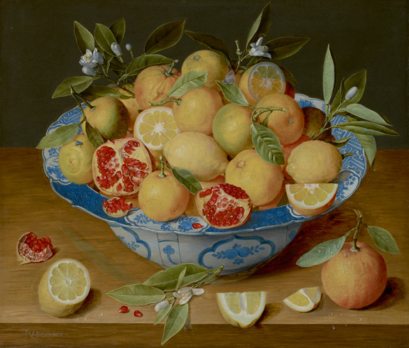 Jacob van Hulsdonck, Still Life with Lemons   Oranges and a Pomegranate