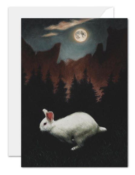 Moon Rabbit greeting card