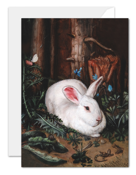 Rabbit in the Forest, after Hans Hoffmann greeting card
