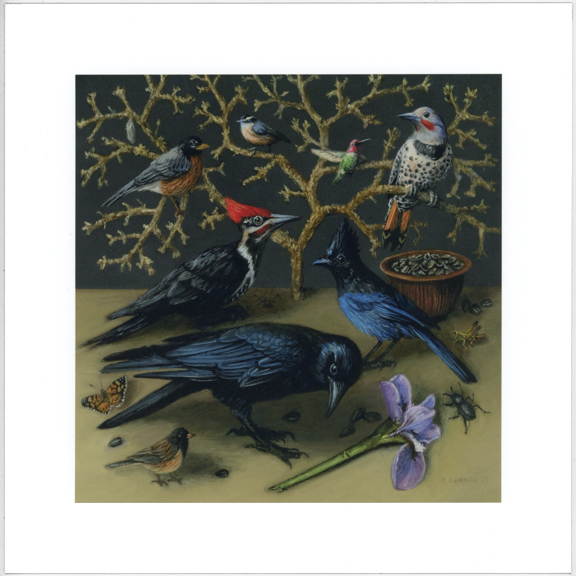 Birds of the pacific northwest Limited edition print by Rebecca Luncan