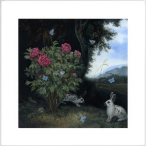 forest rabbits Limited edition prints from original paintings english spot rabbit by Rebecca Luncan