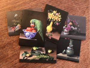 greeting cards printed from original still life paintings by Rebecca Luncan