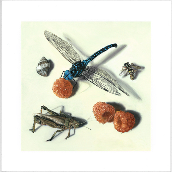 Insect painting limited edition print by Rebecca Luncan