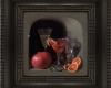 Cheers! still life painting in the dutch tradidion with ripple frame by Rebecca Luncan