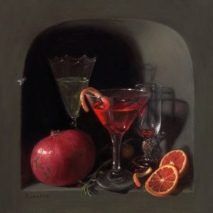 Cheers! still life painting in the dutch still life tradidion by Rebecca Luncan
