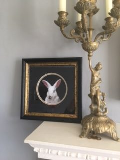 Framed limited edition print of rabbit