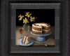 carrot cake still life painting by Rebecca Luncan