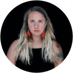 Contemporary miniature portrait painting of a young woman by Rebecca Luncan