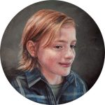 portrait miniatures of children painting of boy by Rebecca Luncan